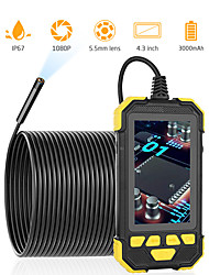 cheap -5.5mm1080P Digitale Industrile Endoscoop Camera Handholod Waterdichte Borescope Inspectie Camera Voor Voertuig Controle Pijp Detecteren 6 Led