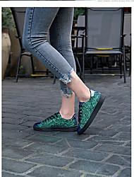 cheap -Women's Flats Summer Flat Heel Closed Toe Daily PU Pink / Gold / Green