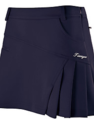 cheap -Women's Tennis Golf Outdoor Exercise Skirt Skort Breathable Wearable Sports & Outdoor Spring, Fall, Winter, Summer Solid Colored White Red Pink Orange Dark Navy / Stretchy