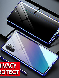 cheap -Magnetic Tempered Glass Privacy Metal Case Coque 360 Magnet Cover For Samsung Galaxy S20Ultra / S20 Plus / S20 / A70 / A50 / A50S / A30S / Note 8 / Note 9 / Note10 Note 10Plus / S10 / S9 / S8Plus
