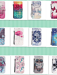 cheap -Case for Samsung scene graph S20 S20 Plus S20 Ultra A51 A71 3D bright cute painting pattern PU leather material card holder lanyard all-inclusive anti-fall mobile phone case YB