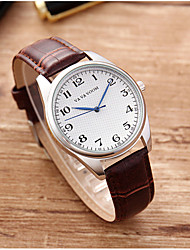 cheap -Men's Dress Watch Quartz Genuine Leather 30 m Water Resistant / Waterproof Calendar / date / day Day Date Analog Fashion Cool - Black Brown Black / Blue One Year Battery Life
