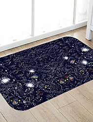 cheap -Black Starry Sky Print High Quality Memory Foam Bathroom Carpet and Door Mat Non-slip Absorbent Super Comfortable Flannel Bathroom Carpet Bed Rug