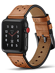 cheap -Smart Watch Band for Apple iWatch 1 pcs Leather Loop Genuine Leather Replacement  Wrist Strap for Apple Watch Series 5 Apple Watch Series 4 Apple Watch Series SE / 6/5/4/3/2/1 Apple Watch Series 3