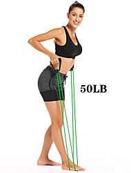 cheap -Exercise Resistance Bands Sports TPE Home Workout Yoga Pilates Non Toxic Stretchy Strength Training Muscular Bodyweight Training Physical Therapy Resistance Training For Men Women Forearm Ankle Belly