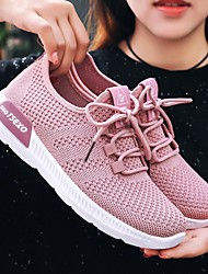 cheap -Women's Trainers Athletic Shoes Flat Heel Round Toe Daily Mesh Summer White Black Pink