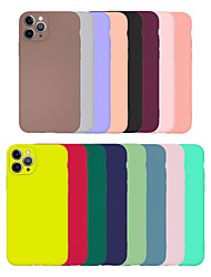 cheap -Cheap TPU Case For Apple iPhone 11 SE2020 Simple Multi-colored Case Ultra-thin / Frosted Back Cover Solid Colored TPU Case for iPhone 11 Pro Max XS/XR/XS Max/11ProMax/7p/6/7/8