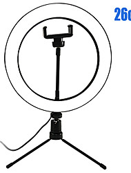 Недорогие -затемняемая фотография из светодиодов селфи кольцо подсветки 16см / 20см / 26см YouTube видео живая фотостудия свет с держателем телефона штатив лампа USB