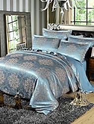Недорогие -европейский хлопок постельное белье типа из четырех частей хлопок сатин жаккардовый стеганое одеяло 1,5 / 1,8 м / 2 м плюс