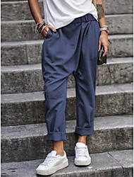 cheap -Women's Basic Chinos Pants Solid Colored Black Army Green Khaki Royal Blue Gray