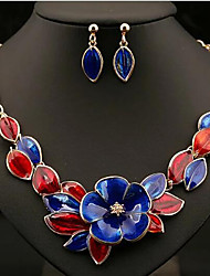 cheap -Women's Jewelry Set Classic Flower Stylish Earrings Jewelry Blue / Orange / Green For Anniversary Party Evening 1 set