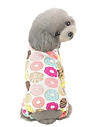 cheap -Dog Jumpsuit Pajamas Geometic Fruit Animal Casual / Daily Dog Clothes Puppy Clothes Dog Outfits Yellow Light Green Pink Costume for Girl and Boy Dog Cotton S M L XL XXL