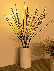 cheap -1pc/2pcs/3pcs/5pcs 20 Bulbs LED Willow Branch Lights Lamp Natural Tall Vase Filler Willow Twig Lighted Branch Christmas Wedding Decorative Lights