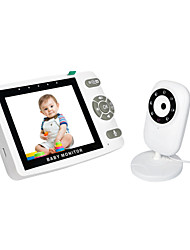 cheap -3.5 size Video Baby Monitor with Camera and Audio - Auto Night VisionTwo-Way Talk Temperature Monitor VOX Mode 8 Lullabies 960ft Range and Long Battery Life
