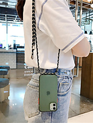 cheap -Clear Case With Crossbody Lanyard Rope For iPhone SE 2020 / 11 / 11Pro /11 Pro Max / XS /  X / XR / 8 / 8Plus / 7 / 7Plus / 6 / 6Plus / 6S /6s Plus Necklace Shoulder Strap Phone Bag Candy Cover