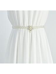 cheap -Metalic Party / Evening / Dailywear Sash With Imitation Pearl / Belt / Crystals / Rhinestones Women's Sashes
