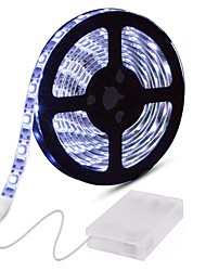 cheap -0.5m Flexible LED Light Strips Flexible Tiktok Lights 30 LEDs 5050 SMD 10mm 1pc Warm White White Red Decorative Batteries Powered