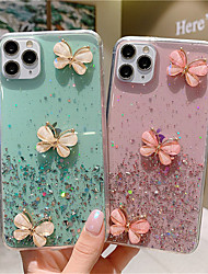 cheap -3D Butterfly Glitter Powder Phone Case For iPhone SE 2020 / 11 / 11Pro / 11 Pro Max / X / XS / XR / XS MAX / 8 Plus / 8 / 7 Plus / 7 / 6 Plus / 6 Soft Silicone TPU Back Case Bling Cover
