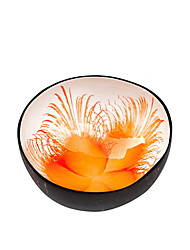 cheap -Colorful Flower Coconut Shell Bowl Dishes Handmade Paint Craft Art Snacks Bowl D13.5 H5.7CM