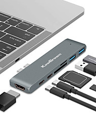 cheap -KawBrown 7 in 1USB Hub Docking USB 3.0 PD Quick Charge Thunderbolt 3 SD TF Reader 4K HD HDMI Adapter For MacBook