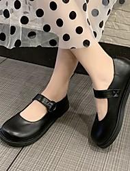 cheap -Women's Flats Summer Flat Heel Closed Toe Daily PU Black / Brown