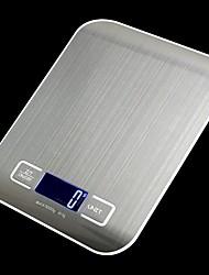 Недорогие -Пищевые весы Цифровой кухонный вес для приготовления и выпечки 11 фунтов / 5 кг из нержавеющей стали с точностью до 1 г / 0,05 унции 5 единиц ЖК-дисплей