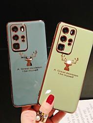 Недорогие -Чехол для телефона с изображением головы оленя с покрытием drxenn для huawei p40 / p40 pro / mate 30 / mate 30 pro / honor 30 / honor 30 pro / nova 7 / nova 7 pro soft tpu силиконовый противоударный
