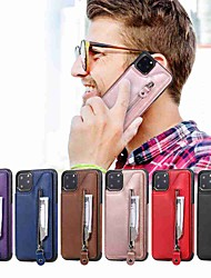 cheap -Case For Apple iPhone 11 / iPhone 11 Pro / iPhone 11 Pro Max Wallet / Card Holder / with Stand Back Cover Double Button Zipper PU Leather / TPU for iPhone Xs Max / Xr / Xs / X / SE (2020) / 8 Plus
