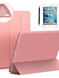 cheap -Case & 1pcs Stylus pen & 1pcs Screen Protect For Apple iPad air3/9.7/10.5/11/10.2/air1/air2/Mini 12345 Flip / Ultra-thin / Origami Full Body Cases Solid Colored PU Leather / Silicone