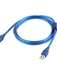 Недорогие -USB 2.0 между мужчинами кабель для передачи данных кабель usb2.0 удлинительный кабель для передачи данных USB 2.0 тип между мужчинами USB адаптер мужской 1,5 м