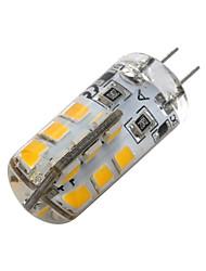 cheap -G4 LED Bulb Bi-Pin Base Lampe Spot 2835 SMD 24 LEDs DC12V 20W Halogen Bulb Equivalent 2W Pour Maison 360 Degree White Warm White 1pc