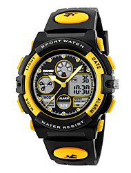 cheap -SKMEI Kids Digital Watch Analog - Digital Digital Stylish Outdoor Calendar / date / day Chronograph Alarm Clock / One Year / PU Leather