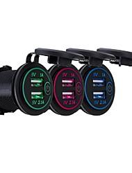 Недорогие -P8-S сенсорный выключатель с терминалом 2.1a1a Dual USB автомобильный моторизованный дом модифицированный зарядное устройство телефона 12-24 В