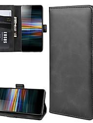 Недорогие -для Sony Xperia L3 / Sony Xperia XZ3 / Sony Xperia 1 II Стенд кошелек кожаный чехол для мобильного телефона с кошельком&усилитель; держатель&усилитель; слоты для карт