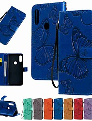 cheap -Case For Motorola MOTO G8 / Moto G8 Power / Moto E7 Wallet / Card Holder / with Stand Full Body Cases Butterfly Embossing PU Leather / TPU for MOTO E6 Play / MOTO E6 / MOTO E6 Plus