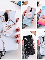 cheap -Case For Huawei Huawei p40 / Huawei P40 Pro / Huawei P20 lite marble imd process TPU material glossy airbag bracket beautiful mobile phone case