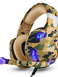 cheap -KOTION EACH G2600 Camouflage Gaming Headset Noise Cancelling Headphones Wired Earphone with Mic LED Light for PC