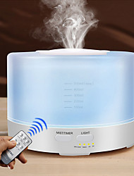 cheap -500ml Humidifier Remote Control Essential Oil Cool Mist Humidifier Aromatherapy 7 LED Lights Air Humidifier