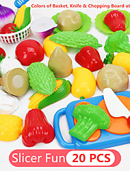 cheap -Toy Kitchen Set Pretend Play Play Kitchen Food Fruit Parent-Child Interaction Plastic Shell Kid's Preschool Boys' Girls' Toy Gift 18 pcs