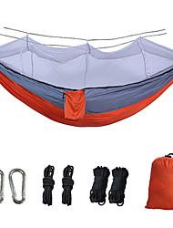 Недорогие -двойной гамак из парашютной ткани с противомоскитной сеткой камуфляж армейский зеленый противомоскитная спиннинг анти-опрокидывания качели могут быть настроены