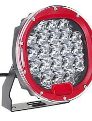 cheap -1Pcs LED 9-32V IP68 6000K 105W 6000LM Motorcycle Car ATV Headlights Red 7Inch
