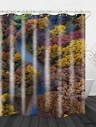 Недорогие -ванная комната водонепроницаемый занавески для душа принимает современные высокотемпературные цифровой печати эффект высокой яркости яркие и яркие цвета