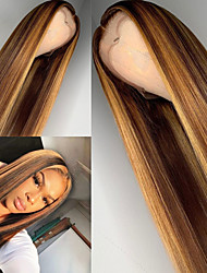 cheap -Synthetic Wig Matte Body Wave Middle Part Wig Blonde Long Light golden Synthetic Hair 26 inch Women's Sexy Lady Highlighted / Balayage Hair Dark Roots Blonde Brown
