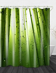 cheap -Creative GreenL ight Digital Print Waterproof Fabric Shower Curtain for Bathroom Home Decor Covered Bathtub Curtains Liner Includes with Hooks