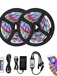 cheap -Bluetooth LED Strip Lights RGB Tiktok Lights 2835 10M (2 x 5M) 600 LEDs Smart-Phone Controlled Waterproof for Home Outdoor Decoration 12V 6A Adapter