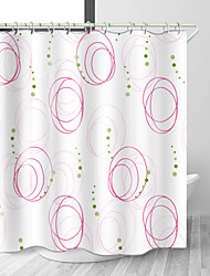 cheap -Line Heterogeneity Space Digital Print Waterproof Fabric Shower Curtain for Bathroom Home Decor Covered Bathtub Curtains Liner Includes with Hooks