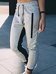 cheap -Women's Basic Loose Cotton Sweatpants Pants - Solid Colored Gray S / M / L