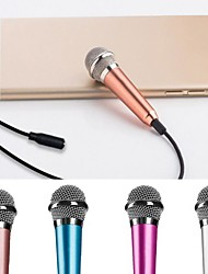 cheap -Karaoke Microphone Wired Mic  Handheld Microphone Blue 3.5 Plug For Phone Pc Computer