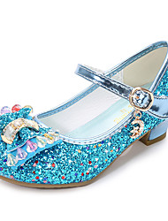 cheap -Girls' Comfort / Flower Girl Shoes Leatherette Flats Little Kids(4-7ys) / Big Kids(7years +) Buckle / Sequin Pink / Gold / Blue Spring & Summer / TPR (Thermoplastic Rubber) / EU37
