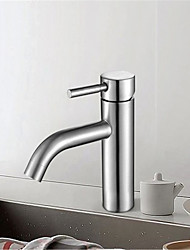 cheap -Pin bend faucet single hole faucet basin top low faucet stainless steel hot and cold faucet